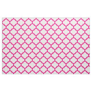 Tissu marocain de motif de treillis de roses