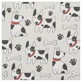 Tissu mignon de motif de chien