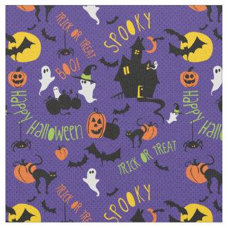Tissu mignon d'impression de lancer de Halloween