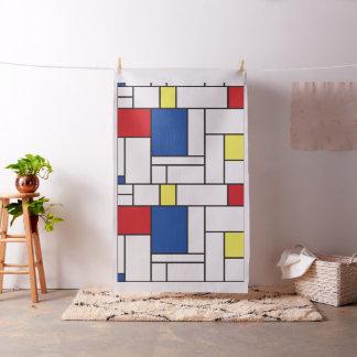 Tissu minimaliste de coutume d'art de Mondrian de