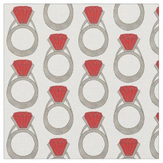 Tissu Mode rouge rouge de Bling de bijou d'anneau de