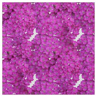 Tissu Modèle pourpre floral
