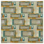 Tissu moderne d'orange de turquoise de motif de la
