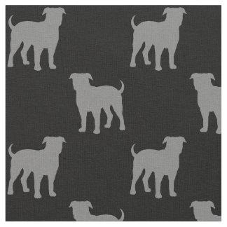 Tissu Motif américain de silhouettes de bouledogue