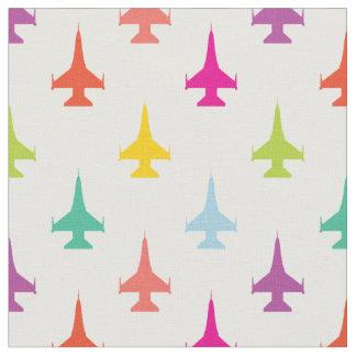 Tissu Motif assez coloré d'avion de chasse de la vipère