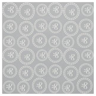 Tissu Motif assez gris d'anneaux d'arc de brume de port