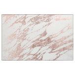 Tissu Motif blanc et rose élégant chic de marbre d'or
