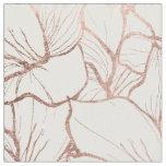 Tissu Motif de fleurs rose d'or de faux abstrait moderne