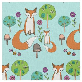 Tissu Motif de Fox