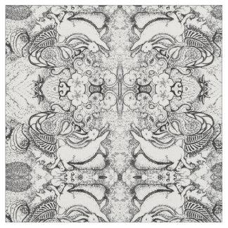 Tissu Motif de mandala de lapin