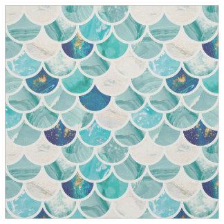 Tissu Motif de marbre de menthe d'échelles de poissons