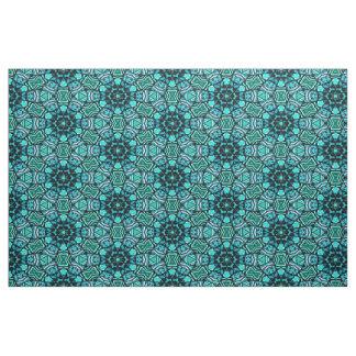Tissu Motif de mosaïque oriental de rétro turquoise