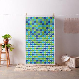 Tissu Motif de point de polka de vert bleu
