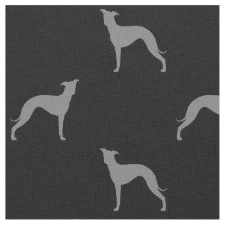 Tissu Motif de silhouettes de lévrier italien