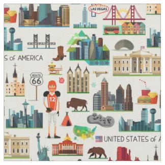 Tissu Motif de symboles des Etats-Unis