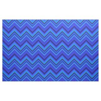 Tissu Motif de zigzag de rayures bleues