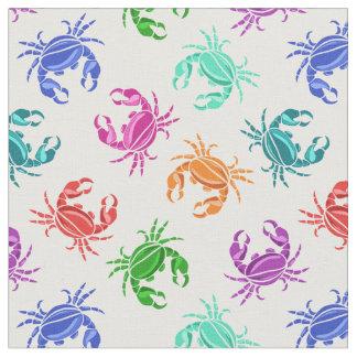 Tissu Motif des crabes