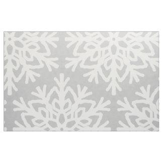 Tissu Motif élégant de flocon de neige