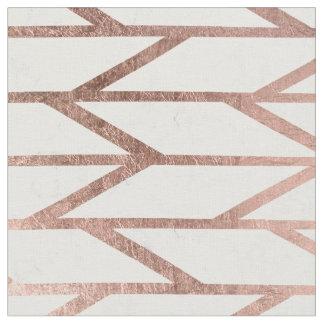 Tissu Motif en arête de poisson de chevron d'or rose