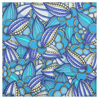 Tissu Motif ethnique abstrait de graines de cacao de