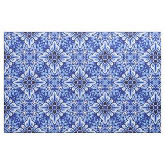 Tissu Motif floral bleu de Delft de Néerlandais vintage