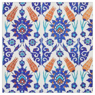 Tissu Motif floral de tuile d'Azulejo de Portugais