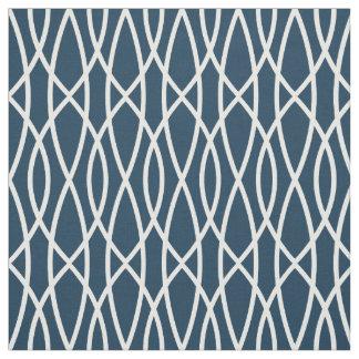 Tissu Motif géométrique moderne de bleu marine