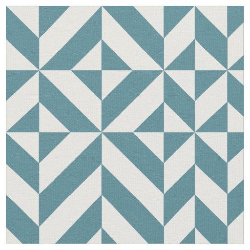 tissu motif g om trique vert turquoise de cube en deco. Black Bedroom Furniture Sets. Home Design Ideas