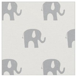 Tissu Motif gris et blanc d'éléphant moderne