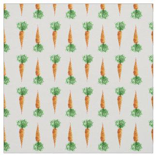 Tissu Motif moderne d'aquarelle de carottes