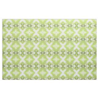 Tissu Motif tribal blanc élégant d'Ikat de vert olive de