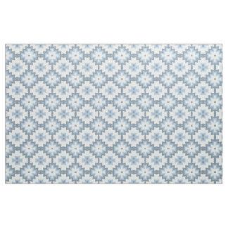 Tissu Motif tribal bleu en pastel élégant d'Ikat de