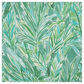 Tissu Motif tropical vert sauvage de feuille de JUNGLE