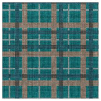 Tissu Motif turquoise de carrés de tartan de Brown de