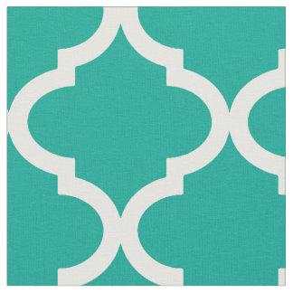 Tissu Motif turquoise de Moraccan Quatrefoil d'Arcadie