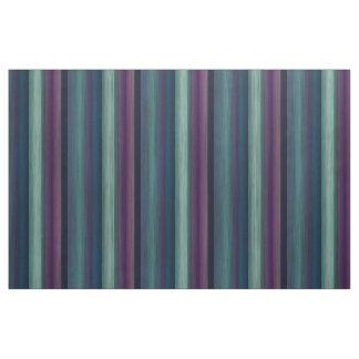 Tissu Motif turquoise pourpre de rayures d'aquarelle de