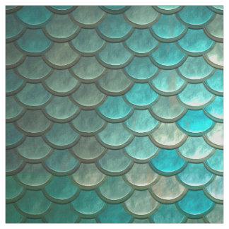 Tissu Motif vert de menthe d'échelles de poissons de