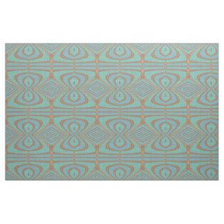 Tissu Motif vintage de Nouveau Deco de turquoise bleue