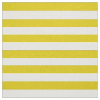 Tissu Neige blanche, or foncé/pied jaune, rayures