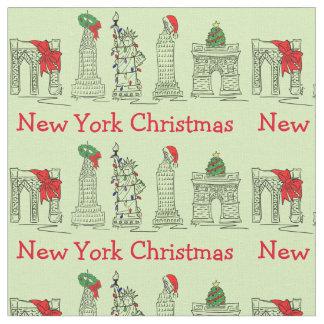 Tissu Noël de vacances de points de repère de Noël de