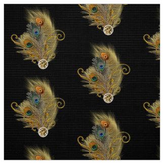 Tissu Noir de motif de diamant de fausse pierre de