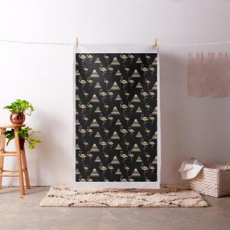 Tissu Noir de motif de pyramides de flamant d'or