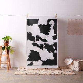 Tissu noir et blanc d'impression de vache