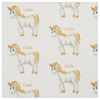 Tissu nommé fait sur commande de licorne mignonne