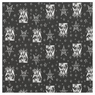 Tissu occulte de Goth de pentagones étoilés d'os