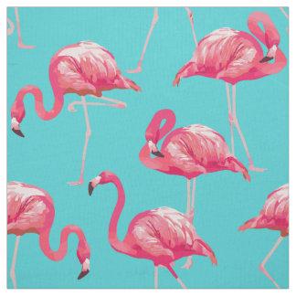 Tissu Oiseaux roses de flamant sur l'arrière - plan de