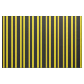 Tissu Or noir et foncé de minuit/pied jaune, rayures