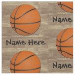 Tissu Orange/Brown nommés personnalisés de basket-ball