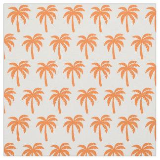 Tissu orange de palmier