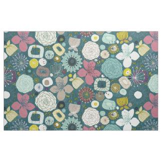 Tissu oriental fleurit paon